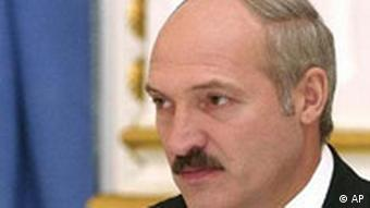 Belarus President Alexander Lukashenko, 50, is seen during a news conference in Minsk, Monday, Oct. 18, 2004