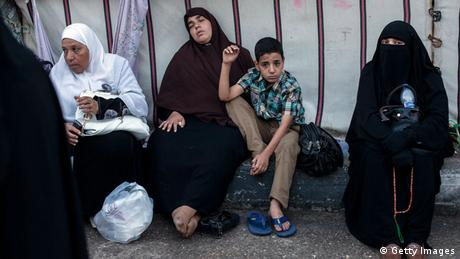 Women and children at the protest camps (photo: Ed Giles/Getty Images)