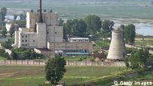 ©Kyodo/MAXPPP - 02/04/2013 ; TOKYO, Japan - File photo shows North Korea's key Yongbyon nuclear complex before its cooling tower (R) was demolished on June 27, 2008. North Korea said April 2, 2013, that it will restart all nuclear facilities at the Yongbyon complex that were shut down under an agreement reached at the six-party talks in 2007. (Kyodo)