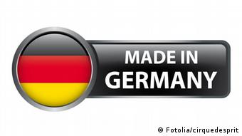 A symbolic picture of a German flag with the 'Made in Germany' tag attached