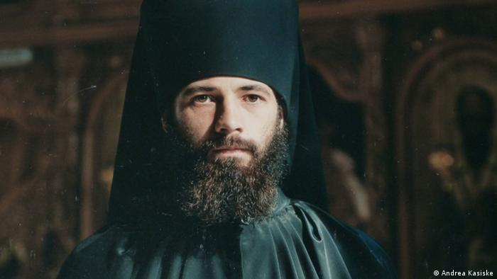 A portrait of Orufire, an Orthodox monk from Romania, part of the I am not afraid of anything photography exhibition by Edgar Zippel in Berlin's Museum for European Cultures, Copyright: Museum Europäischer Kulturen
