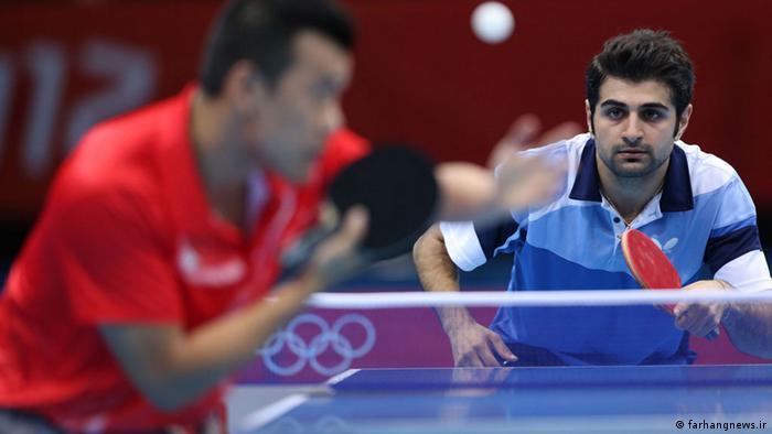 Iranische Tischtennisspieler Noushad Alamian (farhangnews.ir)