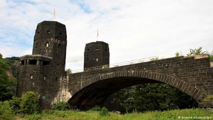 Bridge ruins of the Ludendorff Bridge in Remagen