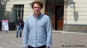 Jonas Fegert, Mitgründer der jüdischen Studierendeninitiative Studentim (Foto: DW/Bianca Schröder)