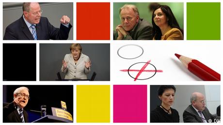 Kandidaten für den Bundestagswahlkampf 2013 (Foto: dw)