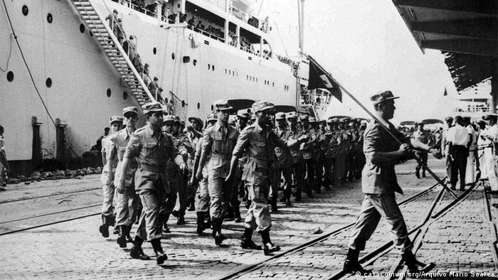 Desembarque de tropas coloniais portuguesas em Luanda (1962)