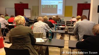 Teilnehmer bei der Deutschen Kreuzworträtsel-Meisterschaft in Berlin (Foto: Rätselredaktion Susen)