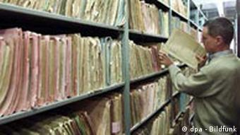 Shelves and shelves of files