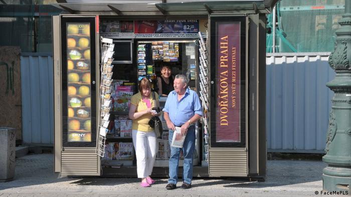 Zeitungskiosk in Prag