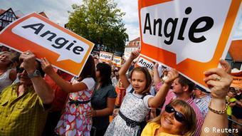 Wahlkampf Angela Merkel in Seligenstadt