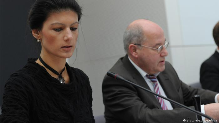 Sahra Wagenknecht and Gregor Gysi, picture-alliance/dpa