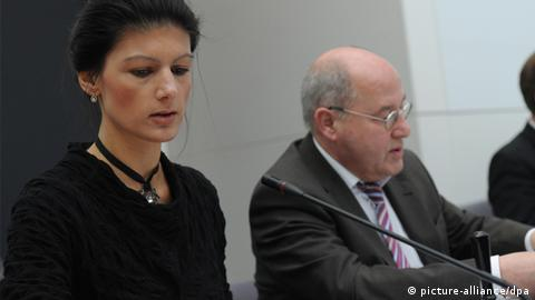 Sahra Wagenknecht and Gregor Gysi don't always get on