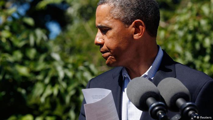 US-Präsident Barack Obama nach einer Rede im August 2013 (Foto: Reuters)