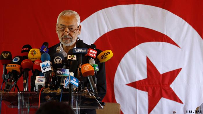 Rached Ghannouchi, leader of the Islamist Ennahda movement, speaks during a news conference in Tunis August 15, 2013. The chairman of Tunisia's ruling Islamist party rejected on Thursday opposition demands for a non-party government, saying this could not steer the country through the delicate situation it is in. Ghannouchi said he would accept the creation of a government of national unity, but only provided all political parties are represented. REUTERS/ Zoubeir Souissi (TUNISIA - Tags: POLITICS CIVIL UNREST)