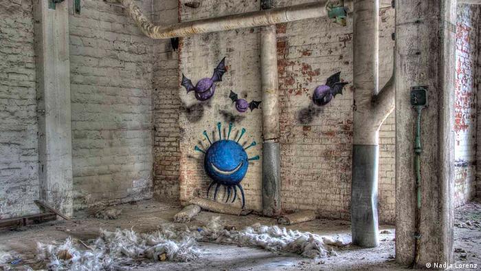 Graffiti von Kim Köster in der Papiermühle Eberwalde