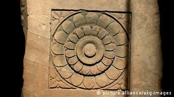 Lotus Relief Sandstein Indien