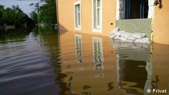 Elbehochwasser in Lorenzkirch (Foto: Privat).