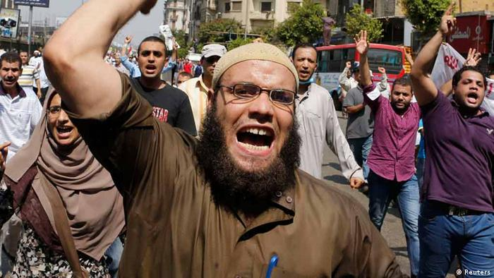 Muslim Brotherhood protester (photo: REUTERS/Louafi Larbi)