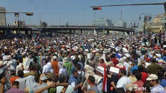 Viele der Demonstranten waren auch in den geräumten Protestcamps (Foto: DW/Matthias Sailer)