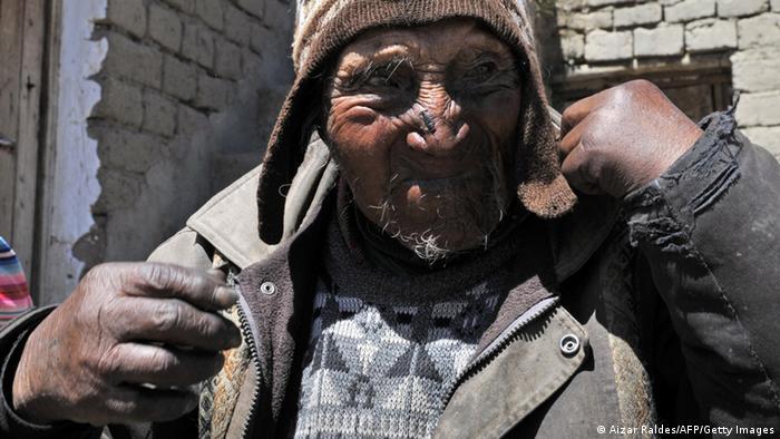 Ältester Mensch der Welt Carmelo Flores Laura (Aizar Raldes/AFP/Getty Images)