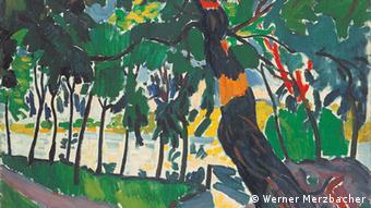 Андре Дерен: Дерева, ландшафт на березі річки (1905)
