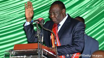 CAR President Djotodia swearing in as head of state