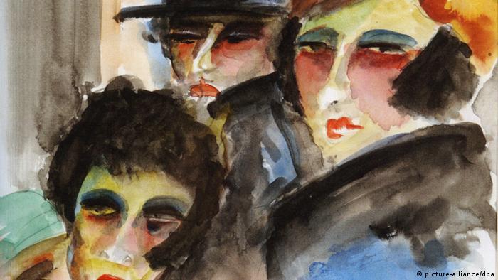 تابلویی بینام از دهه ۱۹۲۰ اثر لو آلبر لازار، نقاش فرانسوی