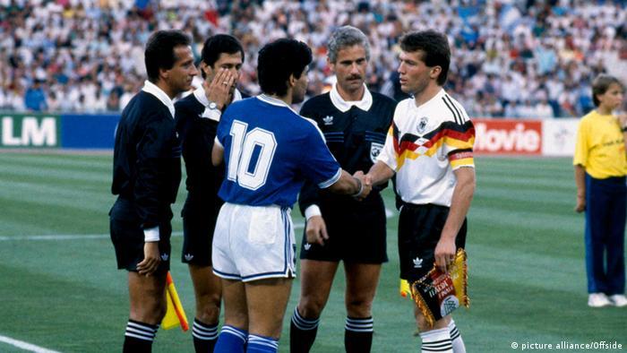 ماتئوس و مارادونا، کاپیتانهای آلمان و آرژانتین در فینال جام جهانی ۱۹۹۰