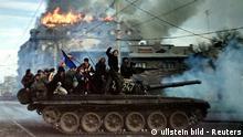Rumänien Geschichte Revolution Bukarest 1989 Panzer