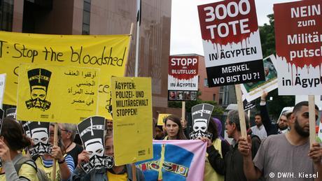Berlin Protest von Amnesty International und Mursi-Anhängern