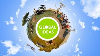 08.2013 DW Global Ideas Serengeti Welt mit Logo