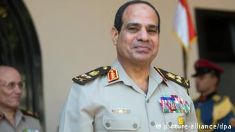 Egyptian military's Commander in Chief Abdel Fattah al-Sisi