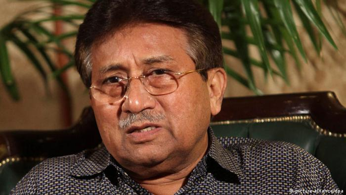 A file photograph showing Pervez Musharraf, former Pakistani President and head of All Pakistan Muslim League political party, talking with journalists during a press conference in Karachi, Pakistan, 31 March (Photo: EPA/REHAN KHAN)