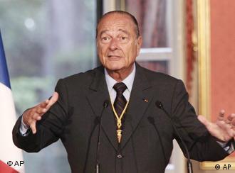 Frankreich Präsident Jacques Chirac