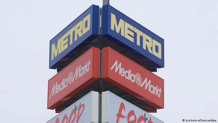 Logo von Metro in Düsseldorf. Foto: dpa