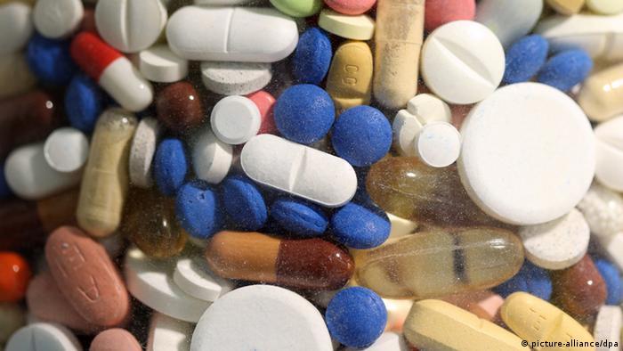 Medicamentos em forma de comprimidos e cápsulas
