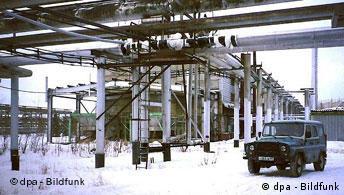 Добыча газа в Сибири