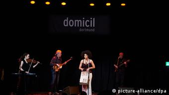 Cuban singer Addys Mercedes on stage at Domicil in Dortmund Photo: Bernd Thissen/dpa