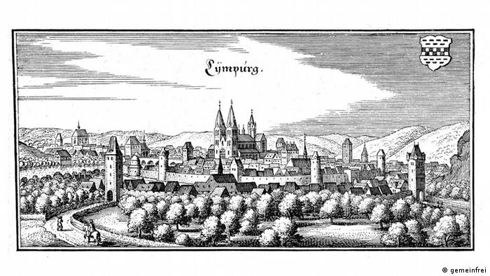 Гравюра Маттеуса Мериана 1655 года
