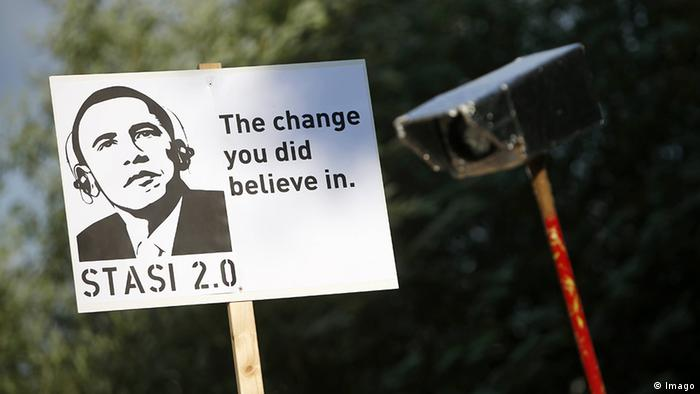 An anti-NSA poster at a demonstration in Hamburg, Germany (Photo: imago/Philipp Szyza)