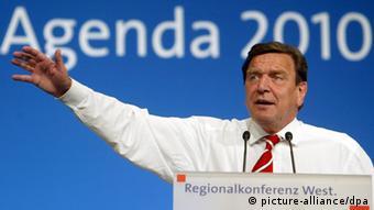 Bundeskanzler Gerhard Schröder (picture-alliance/dpa)