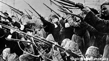 Erstuermung Winterpalast 1917 Russland / Oktoberrevolution: am 7./8. November 1917 (25./26.10.a.St.) Erstuermung des Winterpalastes in Petro- grad (Leningrad) am 7. November 1917. Foto.