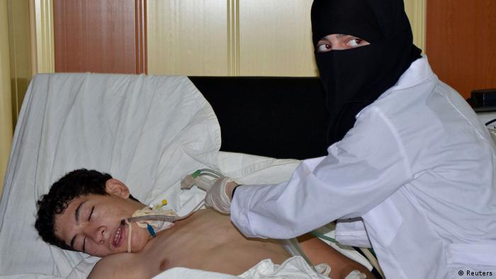 Mladić u bolnici pobunjenika