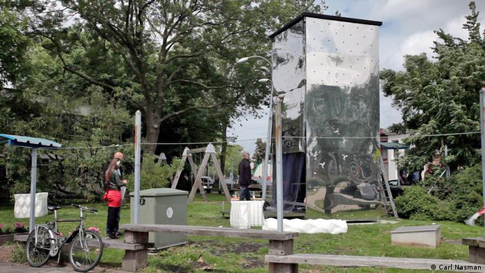 3D house printer the KamerMaker, Amsterdam (Photo: Carl Nasman)