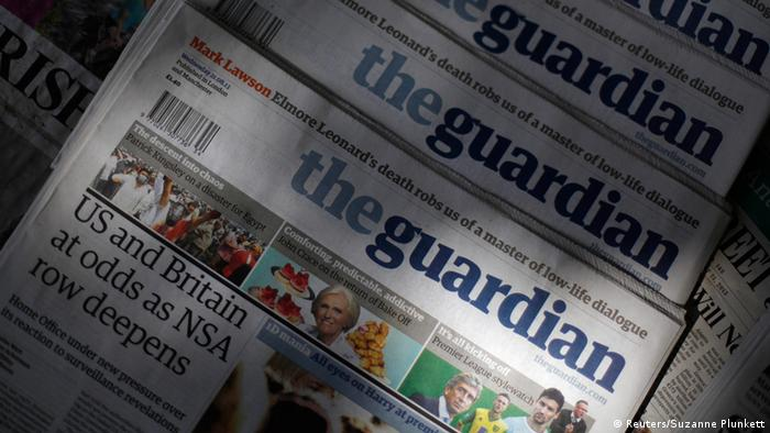 The Guardian Ausgabe vom 21.08.2013 (Foto: Reuters/Suzanne Plunkett)