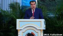 Wasserkonferenz in Tadschikistan Präsident von Tadschikistan Emomali Rachmon Foto DW/Galim Fashutdinow in Duschanbe
