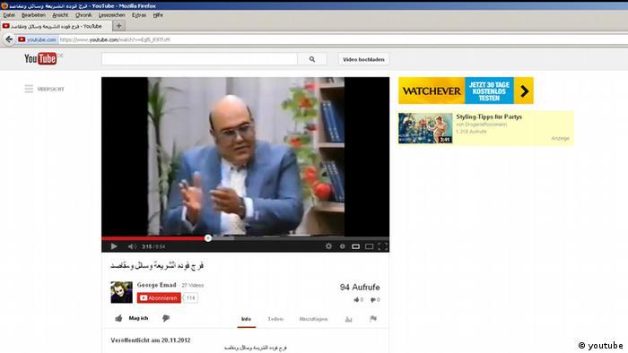 Schriftsteller Farag Fouda (youtube)