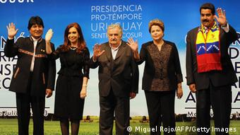 Mercosur government leaders in a press photo (C) AFP/Getty