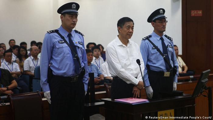 Disgraced Chinese politician Bo Xilai stands trial inside the court in Jinan, Shandong province August 22, 2013, in this photo released by Jinan Intermediate People's Court. (Photo: Reuters)