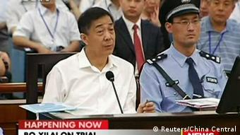 Disgraced Chinese politician Bo Xilai speaks during a court hearing in Jinan, Shandong province August 22, 2013 in this still image taken from video. (Photo: Reuters)